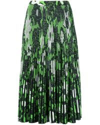 Christian Wijnants - Pleated Floral Skirt - Lyst