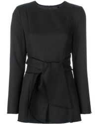 Misha Collection - Tied Waist Long-sleeved Top - Lyst