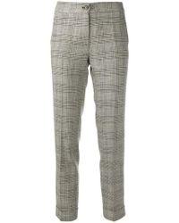 Etro - Pantalones a cuadros príncipe de Gales - Lyst