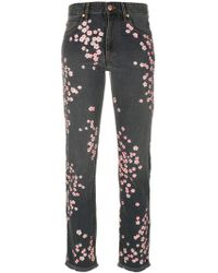 Isabel Marant - Holan Flower Embroidered Jeans - Lyst