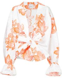 Lyst Bambah Magnolia Flower Tunic In Pink