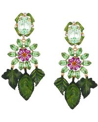 Dolce & Gabbana - Hanging Leaves Earrings - Lyst