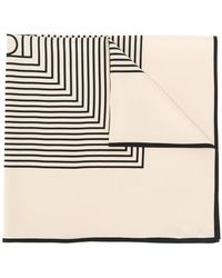 Totême  - Square Stripes Silk Scarf - Lyst