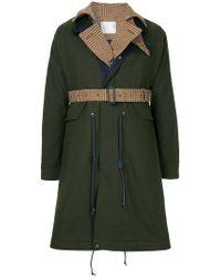 Sacai - Contrast Layer Raincoat - Lyst