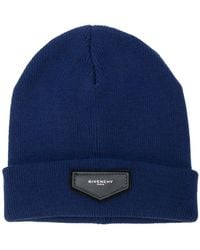 Givenchy - Logo Plaque Beanie Hat - Lyst