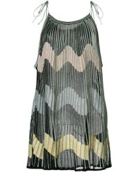 M Missoni - Wave Patterned Blouse - Lyst