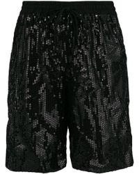 P.A.R.O.S.H. - Drawstring Sequin Shorts - Lyst