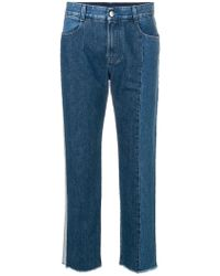 Stella McCartney - Two-tone Straight Leg Jeans - Lyst
