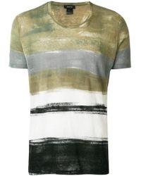 Avant Toi - Stripe Short-sleeve T-shirt - Lyst