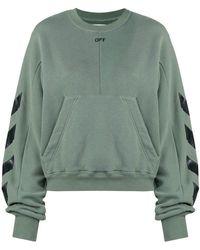 Off-White c/o Virgil Abloh - Diagonal Print Sweatshirt - Lyst