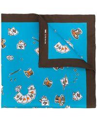 Kiton - Magician Print Handkerchief - Lyst