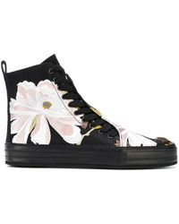 Ann Demeulemeester - Floral Embroidered Hi-top Sneakers - Lyst