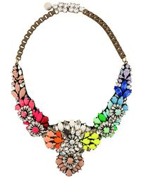 Shourouk - Apolonia Rainbow Necklace - Lyst