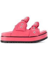 Alexander McQueen - Eyelet Bow Sandals - Lyst