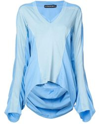 Y. Project - Draped Oversized Blouse - Lyst