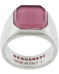 DSquared² Octagonal Inset Signet Ring