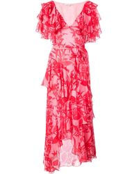 Borgo De Nor - Floral Ruffled Dress - Lyst