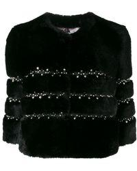 Ainea - Cropped Faux Fur Jacket - Lyst