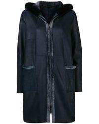Manzoni 24 - Fur Hood Zipped Coat - Lyst
