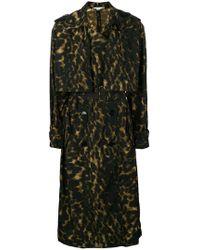 Stella McCartney - Leopard Printed Trench Coat - Lyst