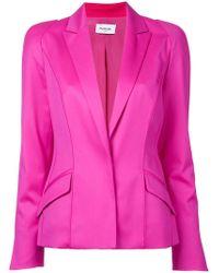 Mugler - Long Sleeved Blazer Jacket - Lyst