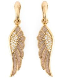 Garrard - Diamond Detail Wing Earrings - Lyst