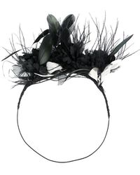 Ann Demeulemeester - Feather Embellsihed Hair Band - Lyst