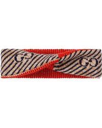 Gucci - Повязка На Голову В Полоску С Логотипом GG - Lyst