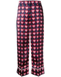 Fendi - Heart Print Pyjama Trousers - Lyst