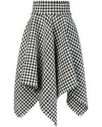 Dolce & Gabbana - Houndstooth Handkerchief Hem Skirt - Lyst