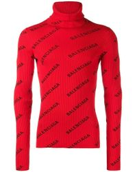 Balenciaga - Pullover mit Logo - Lyst