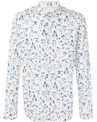 PS by Paul Smith - Foliage Print Curved Hem Shirt - Lyst