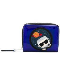 Karl Lagerfeld - K/space Zip Around Wallet - Lyst