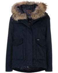 Woolrich | Reversible Fur-trimmed Parka | Lyst