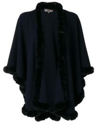 N.Peal Cashmere - Fur Trimmed Cashmere Cape - Lyst