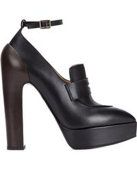 Vera Wang - Penny Loafer Pumps - Lyst