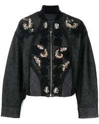 Antonio Marras - Sequin And Floral Embroidered Jacket - Lyst