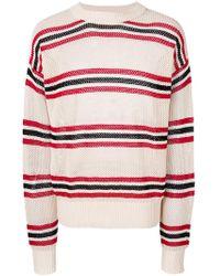 Laneus - Striped Long-sleeve Sweater - Lyst
