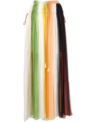 Chloé 'chiffon Rainbow' Pleated Skirt
