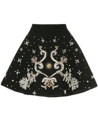 Fausto Puglisi - Bonded A-line Embellished Skirt - Lyst