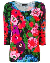 Twin Set - Floral Fitted Jumper - Lyst