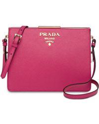 6d26702f0855 Prada - Light Frame Leather Bag - Lyst