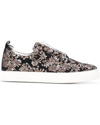 Pierre Hardy - Floral Embroidered Slider Sneakers - Lyst