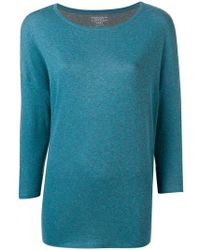 Majestic Filatures - Three-quarter Sleeves Knitted Blouse - Lyst