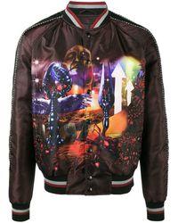Lanvin Planet Scene Print Bomber Jacket