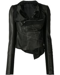 Rick Owens - Geometric Embroidered Wrap Jacket - Lyst