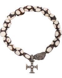 Loree Rodkin - 18kt Gold Bone Maltese Cross Bracelet - Lyst