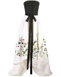 Oscar de la Renta - Botanical Garden Embroidered Gown - Lyst