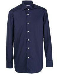 Kiton - Classic Plain Shirt - Lyst