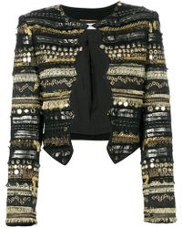 Saint Laurent - Embroidered Fitted Jacket - Lyst